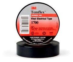3M 3/4 X 60' Black Vinyl Electrical Tap