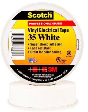 3M Tape White 3/4in X 66ft