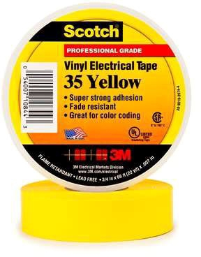 3M Tape Yellow 3/4in X 66ft