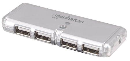 Ic Manhattan 4-Port USB 2.0 Pocket Hub
