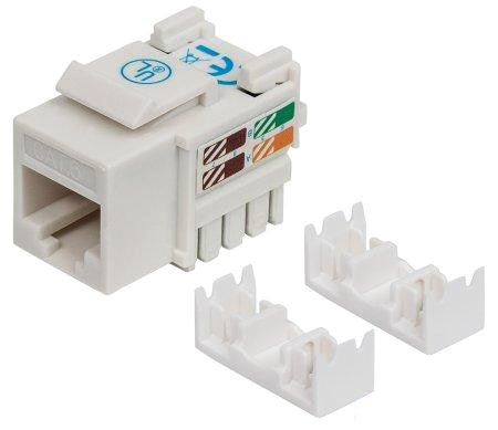 Ic Cat6 White Keystone Jack