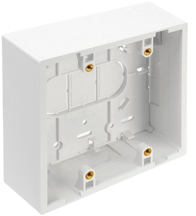 Leviton 2g Surface Box 1.89d White