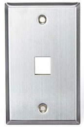 Leviton 1 Port 1g Stainless Plate