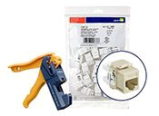 Leviton Cat6 Ivory 150 pk With Jack Rapi