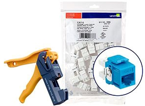 Leviton Cat6 Jack Blue 150 Pack With Jac