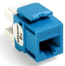 Leviton Cat6 Jack Blue
