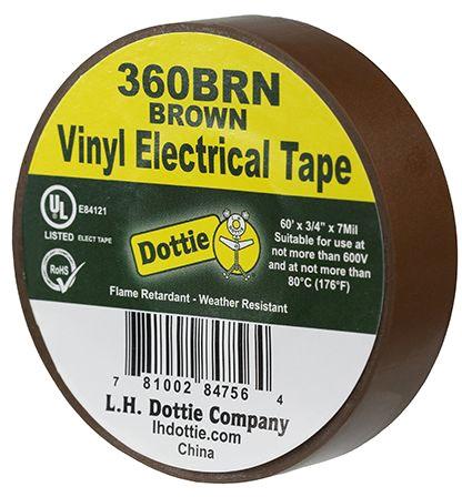 LH Dottie 3/4 X 60ft Tape Brown