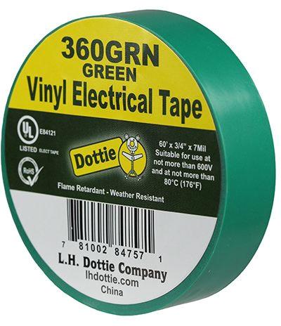 LH Dottie 3/4 X 60ft Tape Green