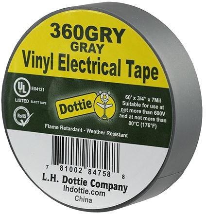 LH Dottie 3/4 X 60ft Tape Gray