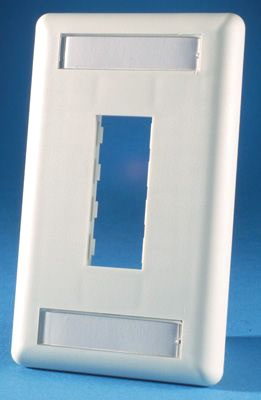 Ortronics 2 Port 1g Faceplate White