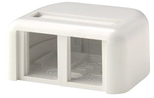 Ortronics 2 Port TJ Biscuit White