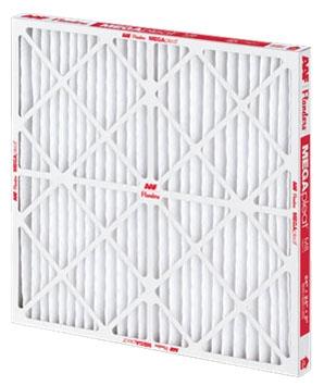 "20"" x 30"" x 1"" Fiber Media Pleated Air Filter - MEGApleat, Beverage Board Frame, MERV 8"