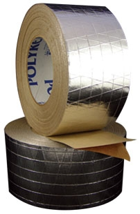 9.25 Mil FSK Insulation Tape - Aluminum, Single Coated with Liner, 30 LB-Inch