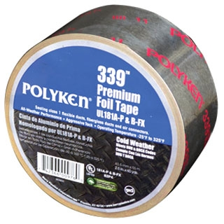 4.9 Mil Foil Tape - Aluminum, Single Coated with Liner, 25 LB-Inch