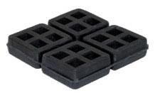 "18"" x 18"" x 3/4"" Super Duty Rubber Pad - High Quality Elastomer"