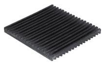 "2"" x 2"" x 3/8"" Solid Cross-Ribbed Anti-Vibration Pad - Elastomeric"