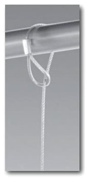 "3/32"" x 10' Hand Splice Eye Twisted Looped Cable Assembly - Dyna-Tite, Galvanized, 25 to 150#"