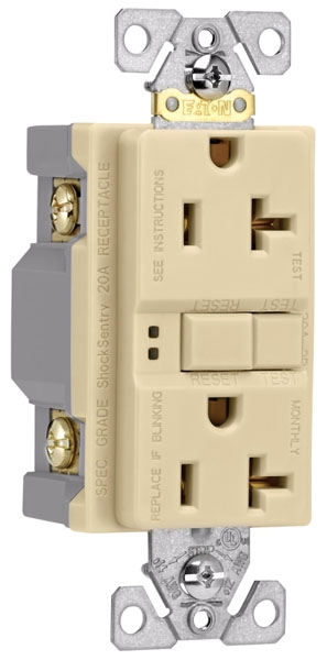 Ivory Self-Test GFCI Receptacle