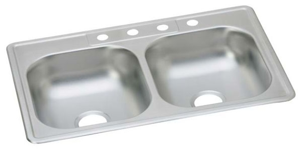 """33"""" x 22"""" x 6"""" Stainless Steel Sink 4-Hole"""