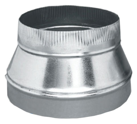 """16"""" x 12"""" Standard Round Sheet Metal Taper - Sure-Fit, Small End Crimped"""