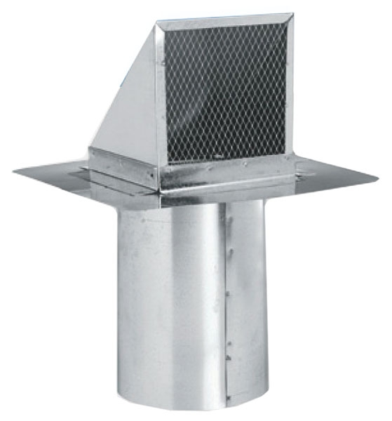 """7"""" Sheet Metal Wall Cap - with Stucco Stop and Screen"""