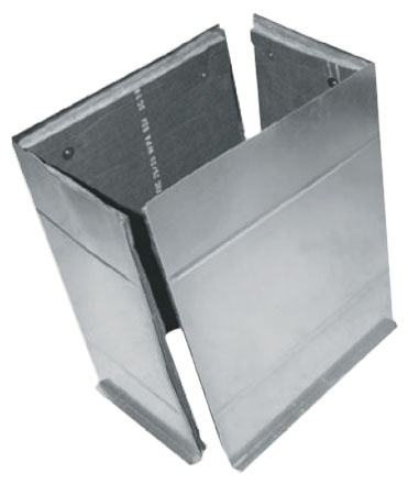 "19.75"" x 22.5"" x 36"" Sheet Metal Plenum - with Cap/Flange and 1/2"" Liner"