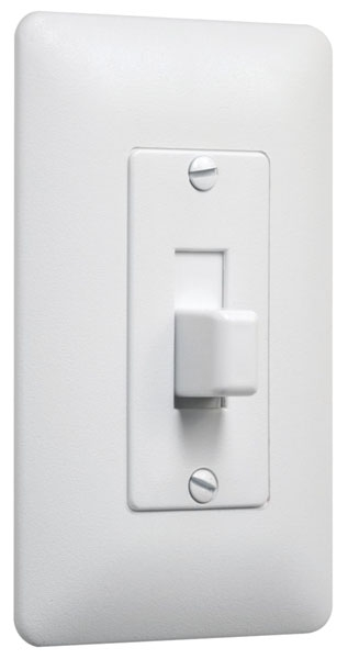 Designer 1G Cover Up Toggle Plate Wht (5Pk)