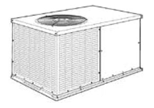55000 BTU Packaged Heat Pump - 208/230 V, R-410A Refrigerant, 14 SEER/11 EER