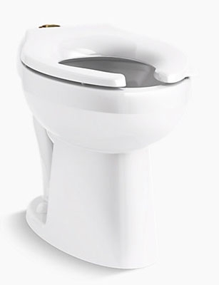 Floor Mount Elongated Toilet Bowl - White, 1.6 Gpf/6.0 Lpf