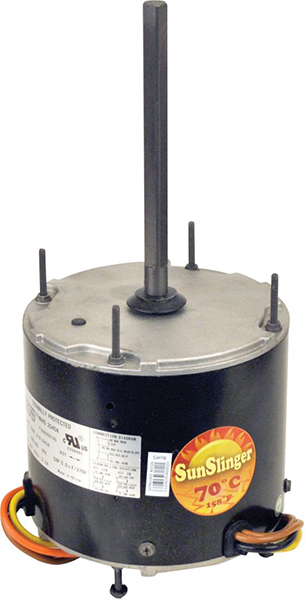 "1/4 HP PSC Condenser Fan Motor - 208 to 230 VAC, 1-Phase, 1/2"" x 4.72"" Shaft"
