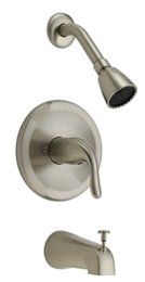Tub and Shower Trim Only Satin Nickel