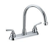 2 Handle Sink Faucet less Spray Chrome