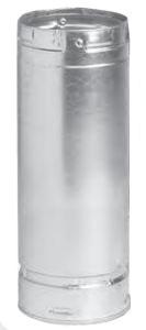 "3"" x 4"" Double Wall Gas Vent Pipe - SureLock, Twist-Lock x Twist-Lock, Aluminum Alloy/Galvanized Steel"