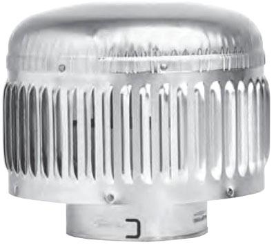 """4"""" x 8"""" Gas Vent Pipe Cap - SureLock, Round, Aluminum Alloy/Galvanized Steel"""