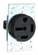 5750 P&S NEMA 15-50R 50A 3PH 250V FLUSH MOUNT RECEPTACLE