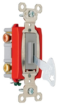 (P&S) 20AC3L 20A 120/277V GRAY INDUSTRIAL EXTRA HEAVY-DUTY SPECIFICATION GRADE LOCK SWITCH BACK & SIDE WIRE