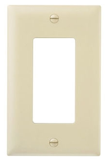 (P&S) TP26I IVORY TRADEMASTER DECORATOR WALL PLATE 1GANG