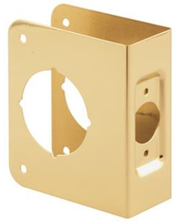 """4"""" Door Guard with Recess Polished Brass"""