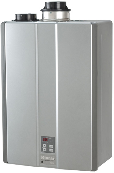 Tankless Natural/Propane Gas Water Heater - Residential, 15200 to 152000 BTU, 8 GPM Max Flow Rate