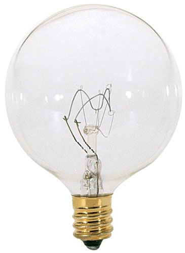 G16-1/2 Clear 40 Watt Bulb (Case 25)
