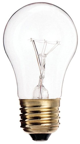 A-15 Clear 40 Watt Bulb (Case 25)