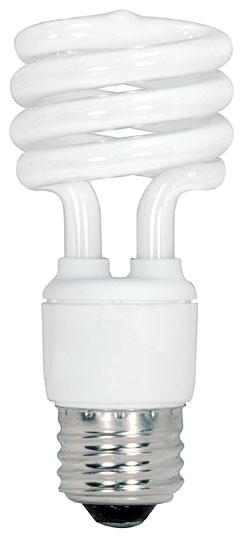 13 Watt Spiral Compact Fluorescent Warm White