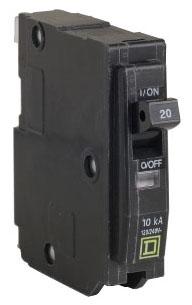 "Square D 20AMP Q0120 SINGLE POLE 3/4"" Circuit Breaker"