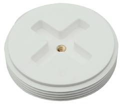 "Black Polypropylene Drain Cleanout Plug - 1-1/2"" Dia, Slotted"