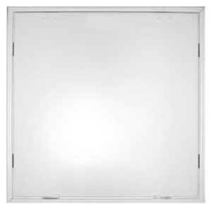 "10"" x 10"" Heavy Duty Square Stamped Face Duct Access Door - Wall/Ceiling Mount, White Powder Coated, Steel"