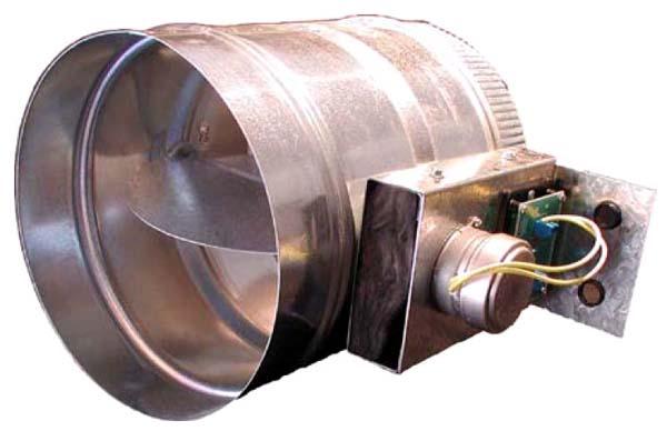 """18"""" Steel Round Low Pressure Zone Damper"""