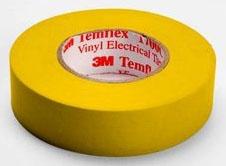 Shurtape EV057C Yellow 3/4X66 Color Coding Tape 200788 (3M 1700C-Yel-3/4x66ft)