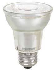 (78978) S-LED8PAR20/DIM/840/FL40/GL2/W 8W 120V 4000K MEDIUM (E26) BASE DIMMABLE 40-DEGREE LED PAR20 LAMP 500 LUMENS 25,000 HOUR AVERAGE RATED LIFE