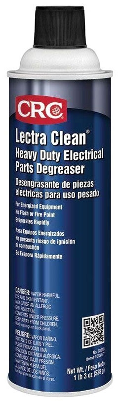 CRC 02018 LECTRA CLEAN Heavy Duty Cleaner Degreaser 20 oz Aerosol