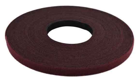 Velcro One Wrap 25yd 1/2in Maroon Plenum